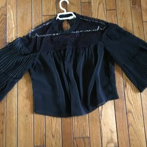 Abercrombie and Fitch lace cropped blouse NWOT